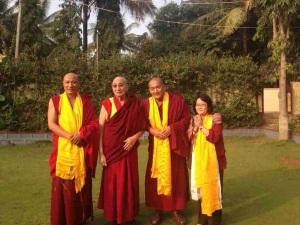 H.E. Neten Rinpoche, H.E Khechok Rinpoche, Geshe la, Nguyen Mai-Phuong