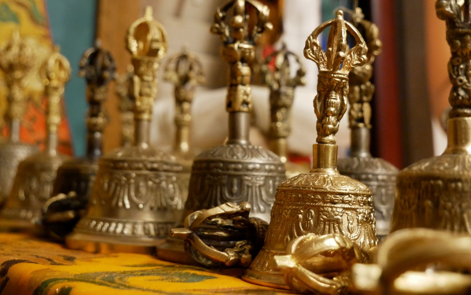 Some bells/vajra are available and can be borrowed for the prayer